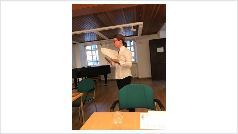 Claudia Siebner bei Ihrer Ansprache zur Nominierung als Ortsvorsteherin